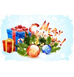 Grungy christmas card vector