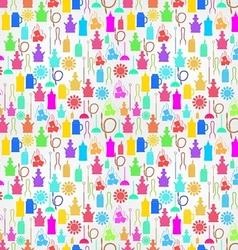 Colorful background for hookah components vector