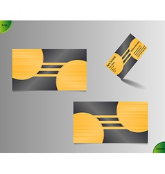Golden business card layout vector