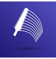 Collection of a mascara shapes each one is shot vector