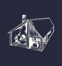 Farming building vector