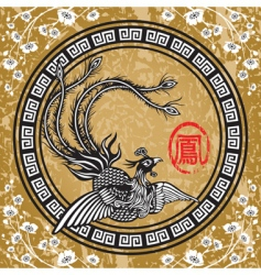 Traditional chinese phoenix vector