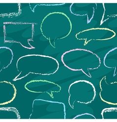Chalk speech bubbles seamless vector