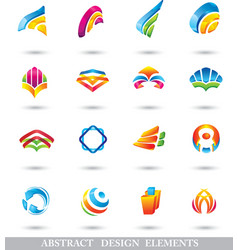 Abstract colorful design elements or icons vector