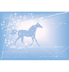 New year background with horse vector