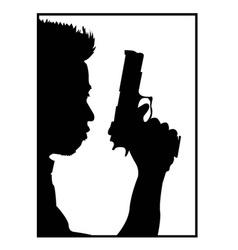 Guy with gun vector