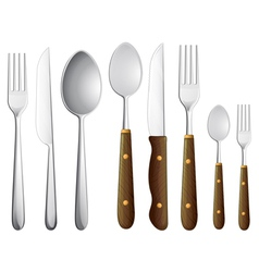 A spoon set vector