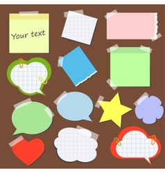 Set of stickers and reminders in different styles vector
