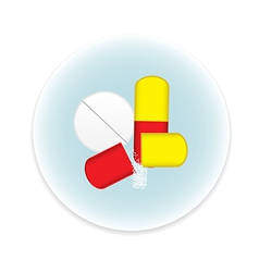 Pills icon vector