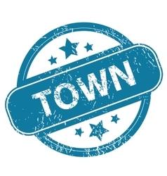 Town round stamp vector