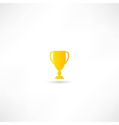 Champions cup icon vector