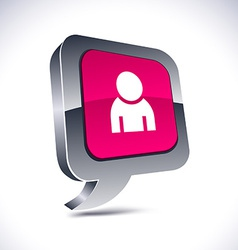 Person 3d balloon button vector