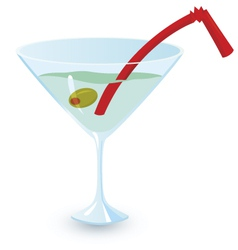Martini alcohol cocktail vector