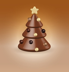 Chocolate tree christmas food concept vector