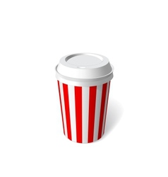 Red paper cup blank template vector