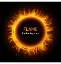 Flame circle background vector