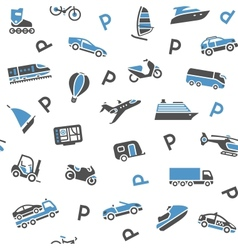 Seamless background transport icons - wrapping vector