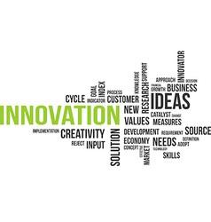 Word cloud innovation vector