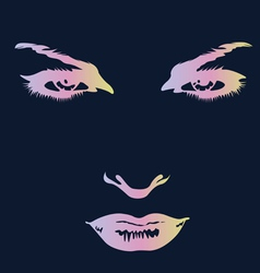 Magnificent eyes print vector