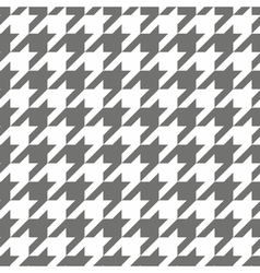 Houndstooth grey and white tile background vector