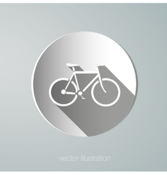 Paper icon bicycle vector
