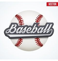 Premium baseball label vector