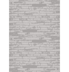 Grey brick wall vector