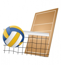 Volleyball design elements vector