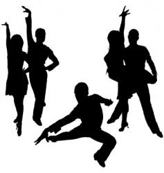 Latino dance silhouettes vector