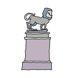A view of statue vector