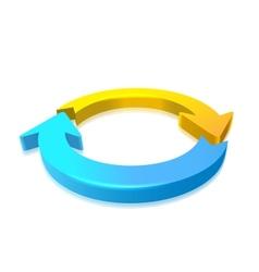 Circular arrow 3d vector