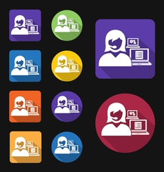 Administrative assistant icon vector