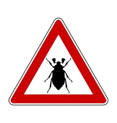 Cockchafer attention sign vector