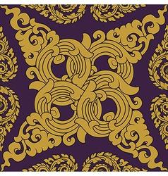 Seamless pattern baroque vector