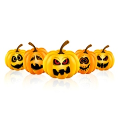 Pumpkin for halloween isolated vector