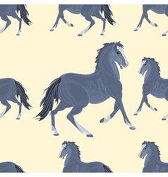 Seamless texture black horse exterior vector