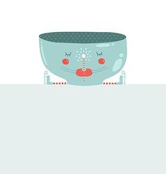 Christmas mug with blank banner christmas greeting vector