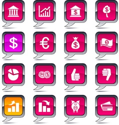 Money balloon icons vector