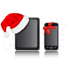 Christmas gift tablet computer vector