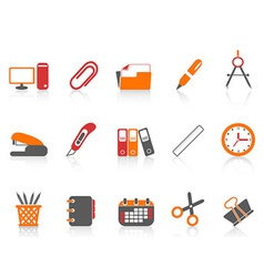 Simple office tools icon vector
