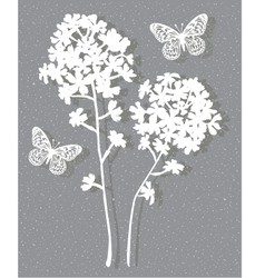 Floral on grey vector