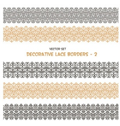 Decorative seamless floral borders vector
