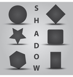 Various simple object with shadow eps10 vector