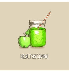Apple healthy drink vector