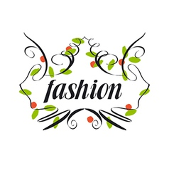 Trendy logo of vegetation patterns vector