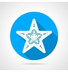 Flat round icon for starfish vector