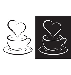 Coffee cup with heart symbol vector
