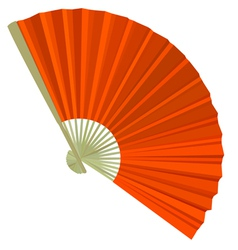 Traditional folding fans vector