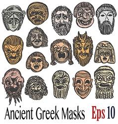 Ancient greek masks vector