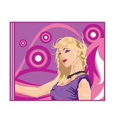 Blonde cartoon vector